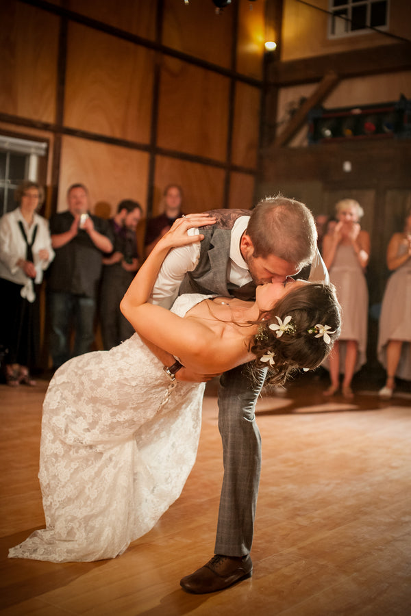 Bride and Groom First Dance | Elegant Barn Wedding | Jeannine Marie Photography