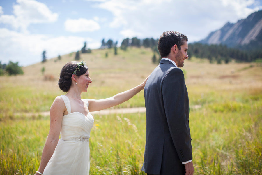 First Look | Colorado Wedding  | Katie Keighin Photography