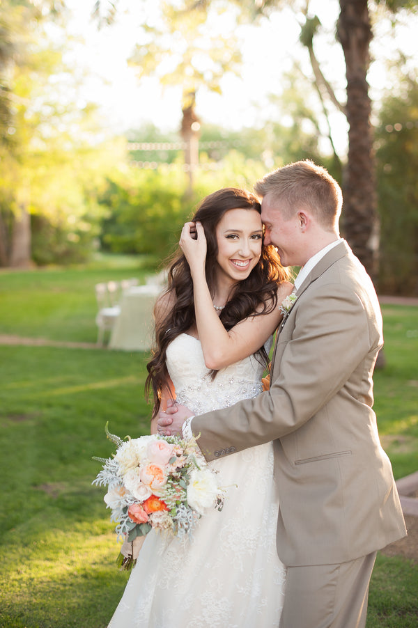 Bride and Groom | | Garden Wedding Shoot | Leslie Ann Photography | @kateaspen