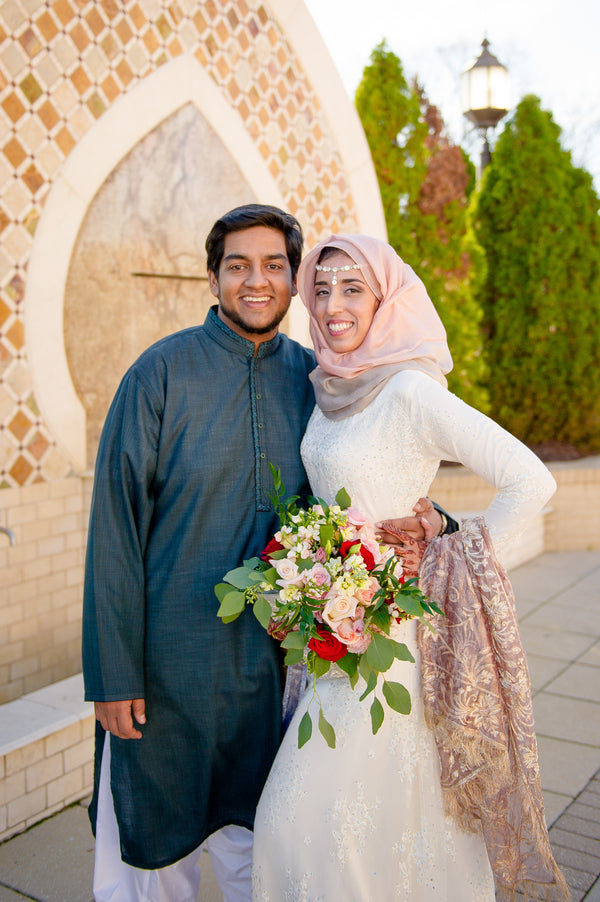 Bride and Groom Muslim Ceremony | Fusion South Asian Wedding | Paris Mountain Photography