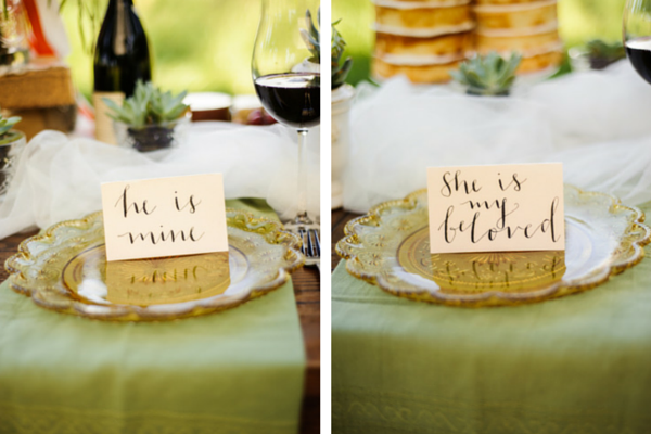 Bride and Groom Table Settings | Rebecca Anne Photography