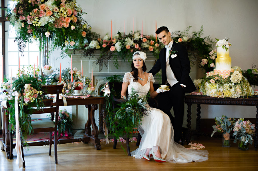 Bride and Groom Second Look | Vintage Details for a Downton Abbey Inspired Wedding Shoot | HRM Photography