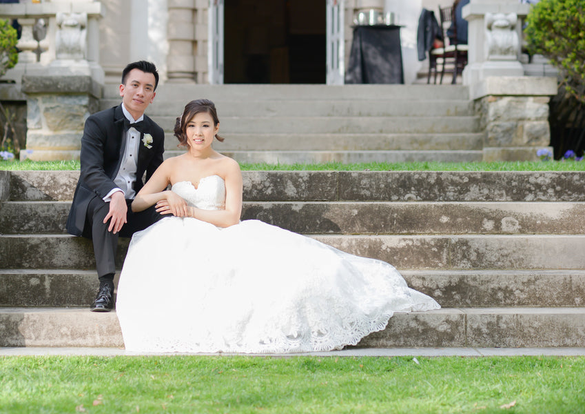 Bride and Groom Sitting | Daisy Saulls Photography | Spring Mansion Wedding