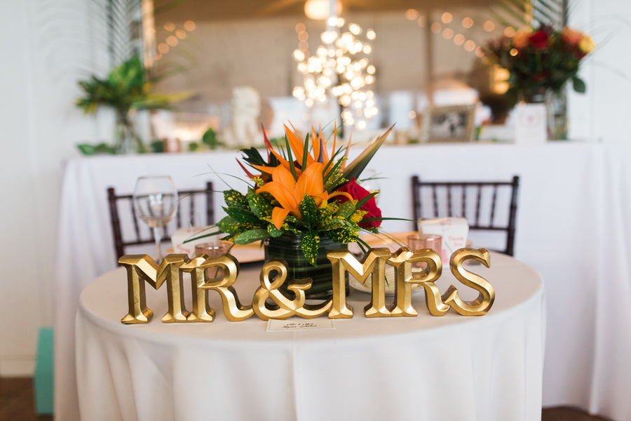 Bride and Groom Table | Southern Charm Meets Tropical Paradise | Kristen Browning Photography