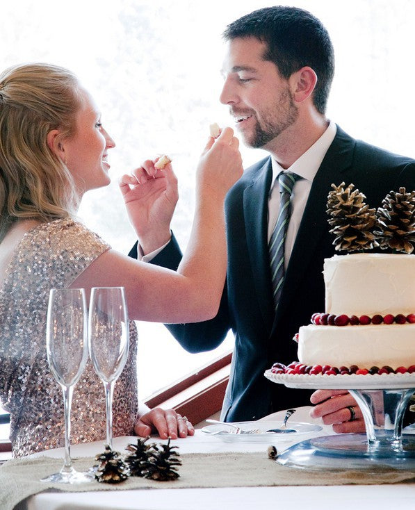 Bride and Groom Taste Cake  | Tana Photography | IDoWED McCall