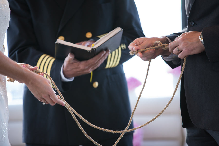 Tying the Knot Ceremony | Nautical Wedding On A Boat | Jeramie Lu Photography