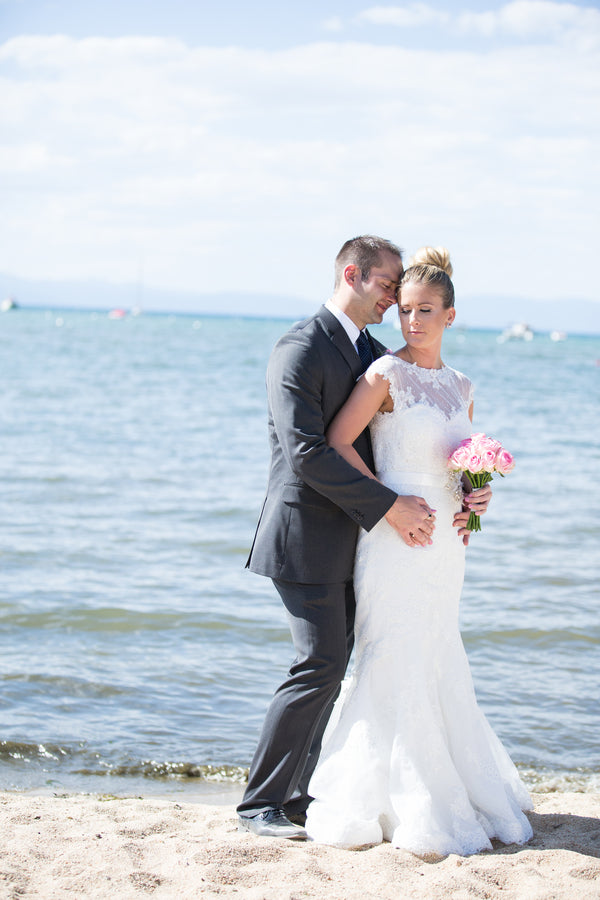 Bride and Groom By Water | Jeramie Lu Photography | Classy Nautical Wedding