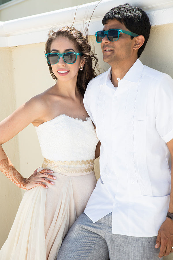Bride and Groom in Sunglasses | Mexican Indian Fusion Wedding | Adrienne Fletcher Photography | @kateaspen