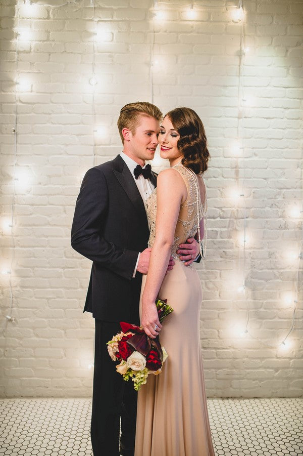 Second Vintage Look Bride and Groom | Art Deco Wedding Inspiration | Edward Lai Photography