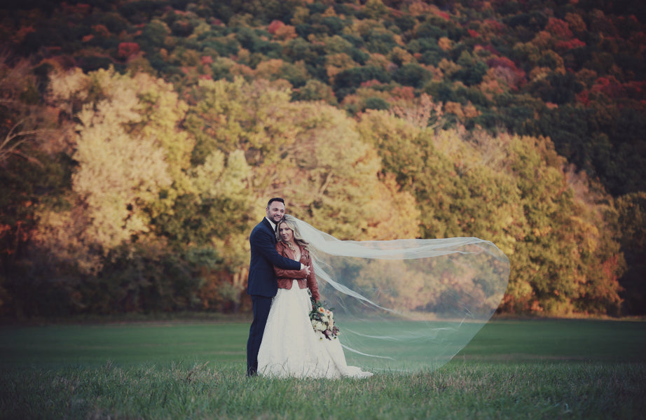 Bride and Groom in Mountains | Laura Dee Photography | New England Fall Wedding