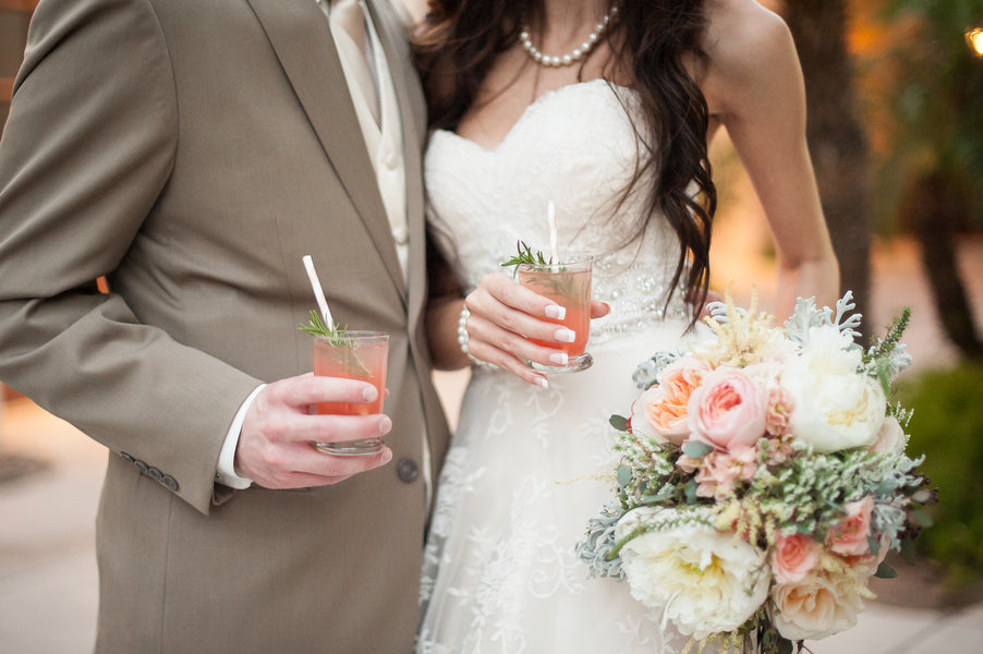 Signature Drinks  | Gorgeous Garden Wedding Shoot | Leslie Ann Photography | @kateaspen