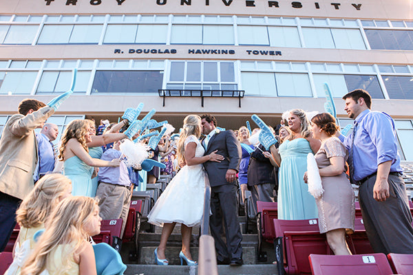 Bride and Groom Kiss at Grand Exit | Wes Roberts Photography