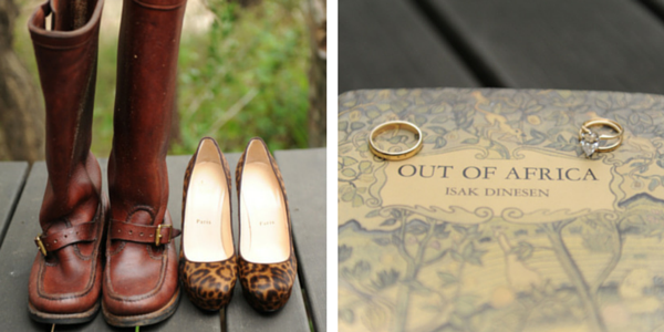 Bride and Groom's Shoes and Rings | African Safari Wedding | Sarah Marie Photos