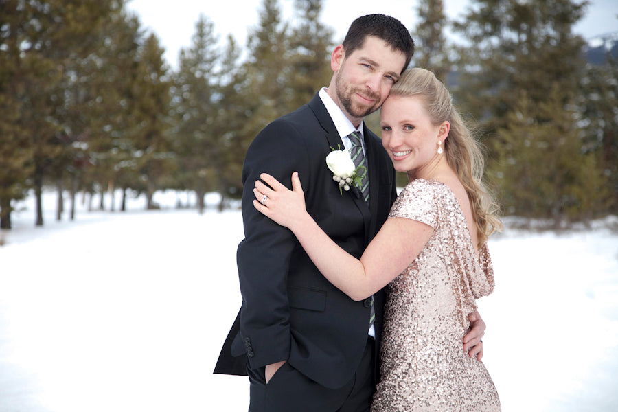 Bride and Groom | Winter Wonderland Wedding  | Tana Photography | IDoWED McCall | @kateaspen