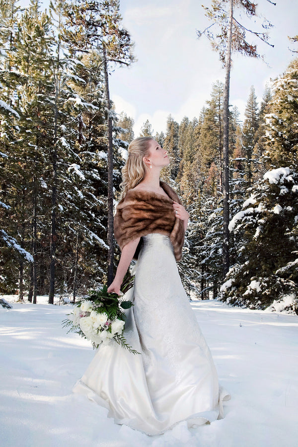 Bride in the Snow  | Tana Photography | IDoWED McCall | @kateaspen