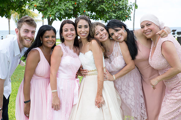The bride with the bridesmaids and Man of Honor | A Mexican Indian Fusion Wedding | Adrienne Fletcher Photography | @kateaspen