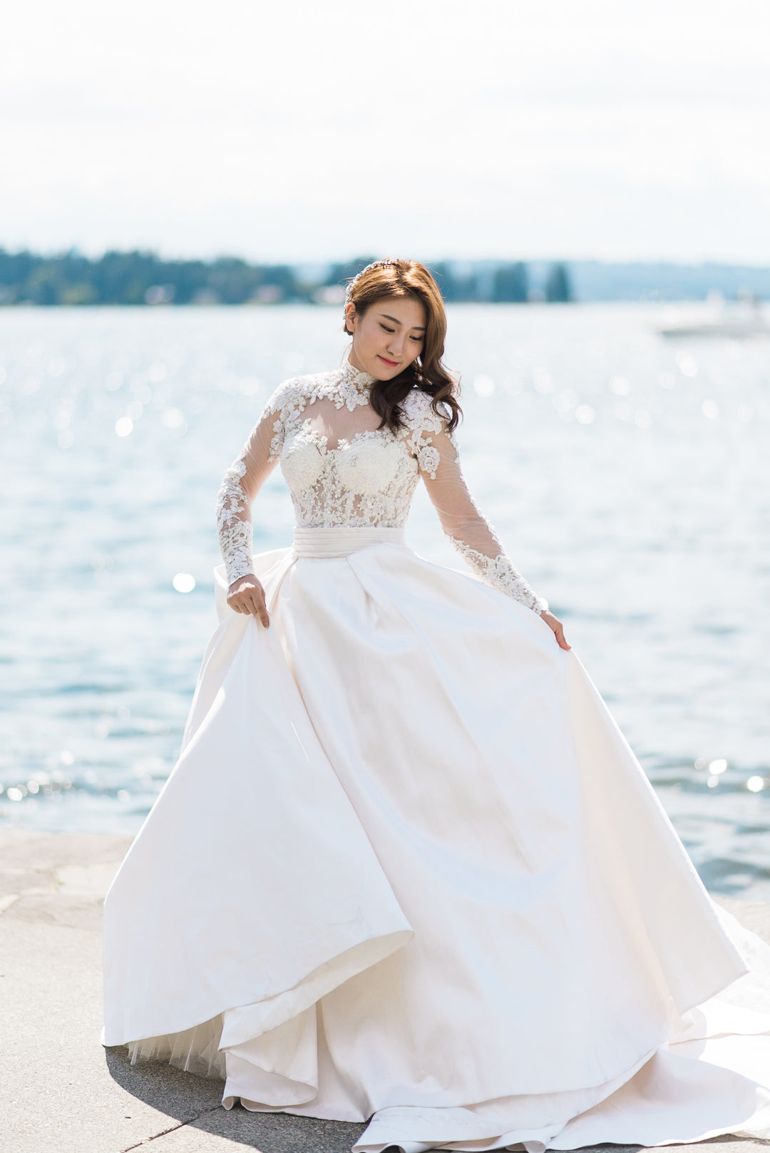 Bride | A Grand Wedding On The Water | Kate Aspen