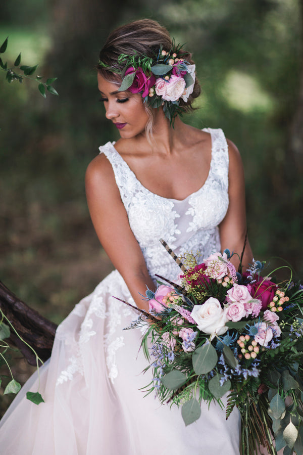 Bride | Details For The Perfect Floral Wedding | Kate Aspen