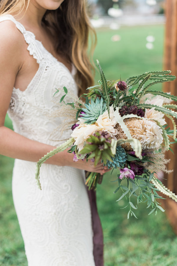 Bride's Bouquet | Boho Wedding Inspiration | B. Jones Photography