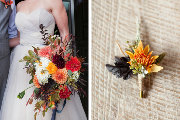 Fall Wedding Bouquet and Boutonniere | Tana Photography LLC