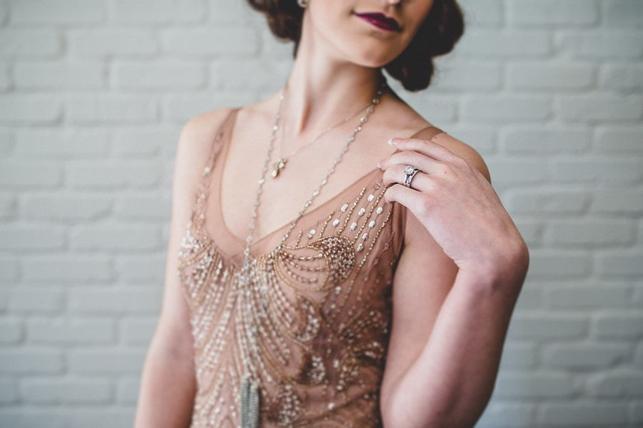 Bride's First 1920s Look| Art Deco Wedding Inspiration | Edward Lai Photography