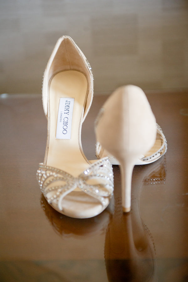 Bride's Jimmy Choo Heels | Fusion South Asian Wedding | Paris Mountain Photography