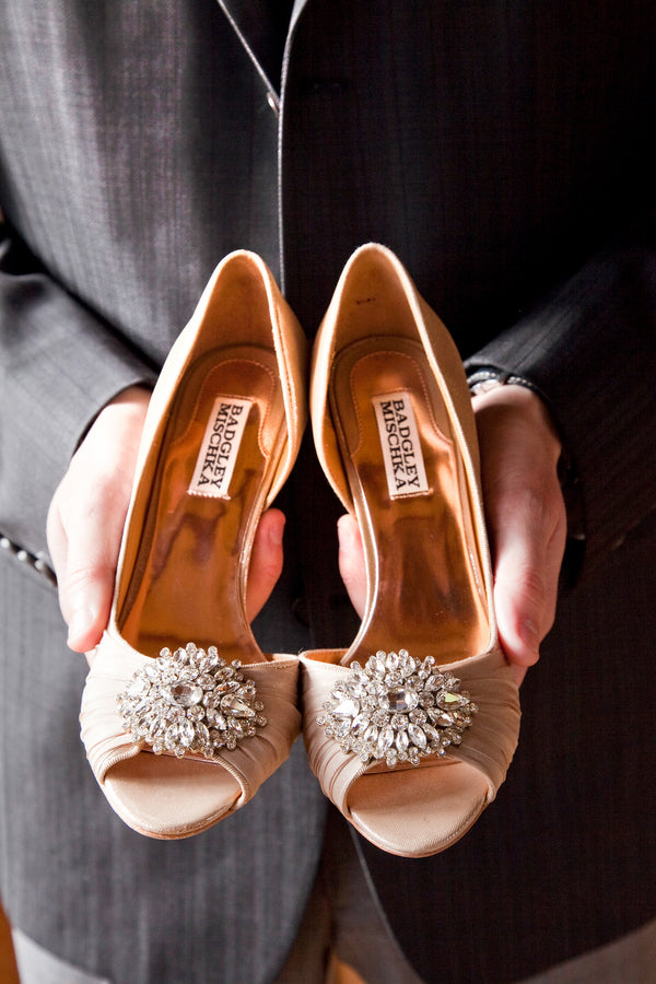 Bride's Badgley Mischka Shoes |  Tana Photography LLC