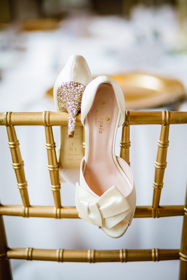 Bride's Shoes | Blush and Gold Wedding | Asteria Photography