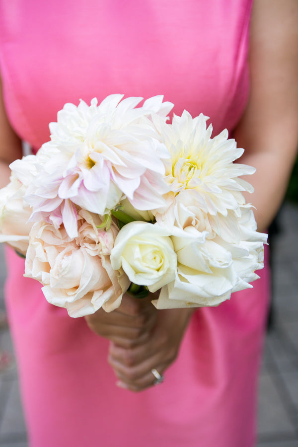 Bridesmaid's Bouquet | Pink Traditional Orthodox Greek Wedding | Kelly Brown Weddings