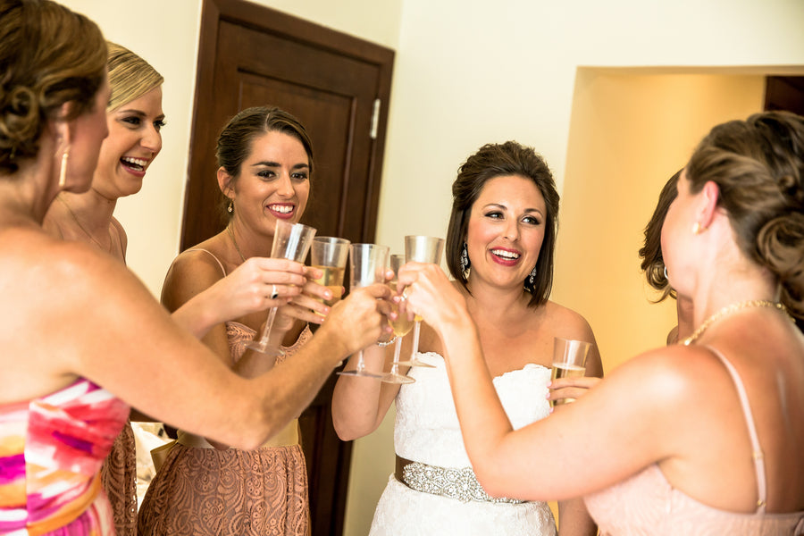 Bridesmaids Toast | A Destination Wedding Weekend in Mexico | Kate Aspen