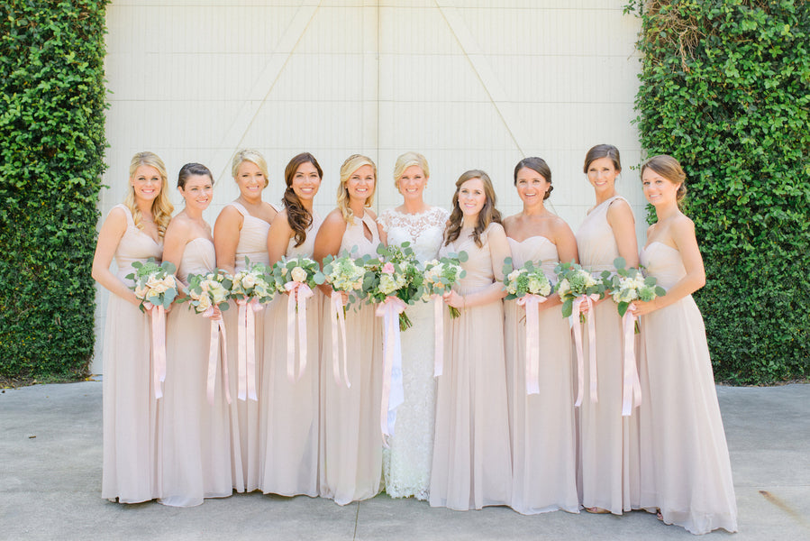 Bridesmaids | A Shabby-Chic Charleston Wedding | Kate Aspen