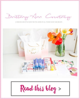 Brittany Ann Courtney - Welcome Bags and Note in a Bottle Jars