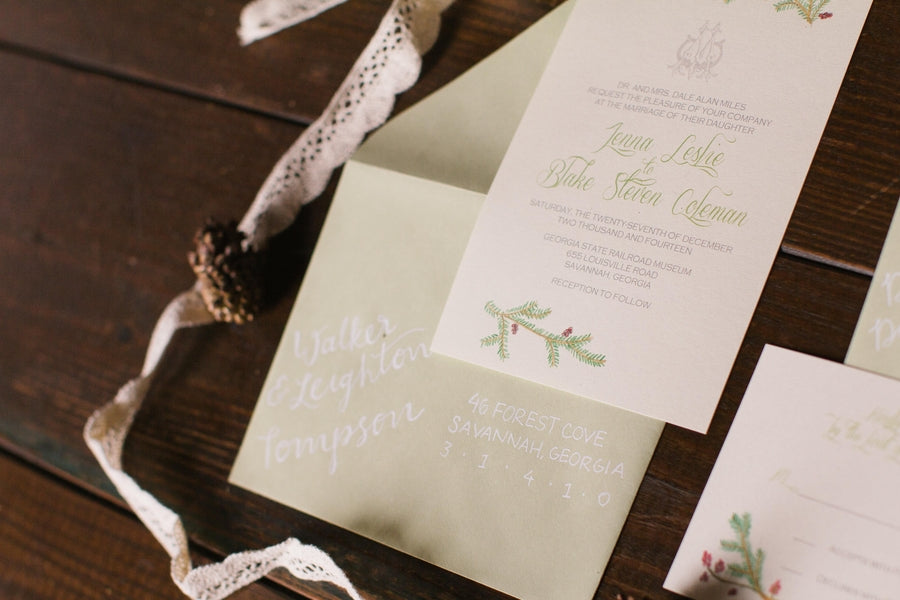 Marianne Lucille Photography |Winter Wedding Ideas | Kate Aspen Blog | Winter Wedding Invitation Suite | Roundhouse Railroad Museum | Savannah Georgia