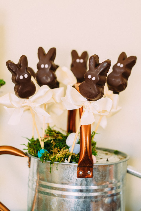 Chocolate Bunny Peeps Display  | Easter Brunch | Tim Chong