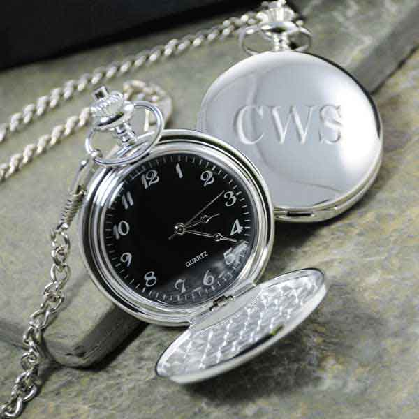 Monogrammed Pocket Watch | Father of the Bride Gift Idea |via MyWeddingFavors.com