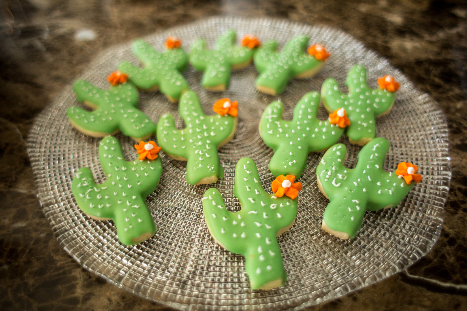 Cactus Cookies | A Chic Desert Themed Baby Shower | Kate Aspen