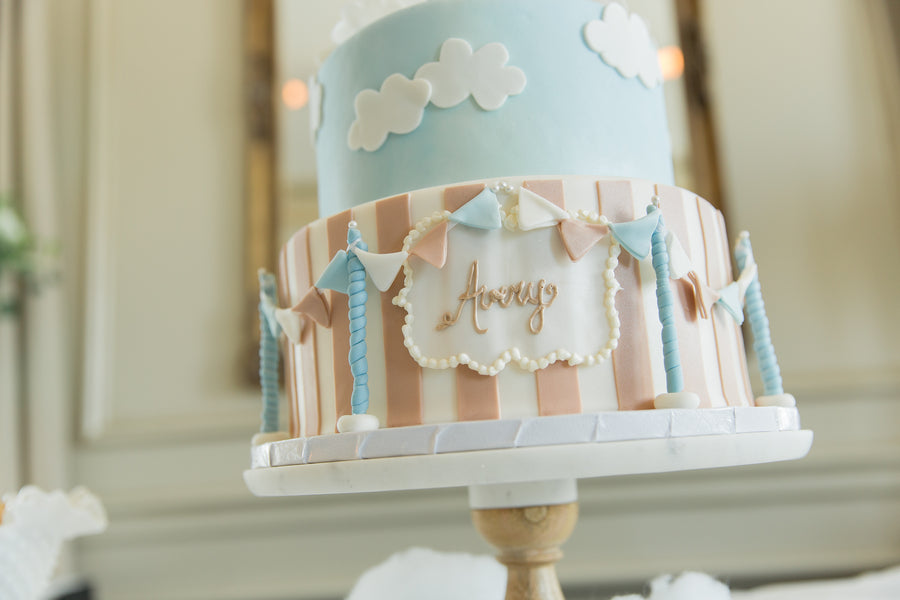 Cake Bottom | An Up Up & Away Baby Shower | Kate Aspen
