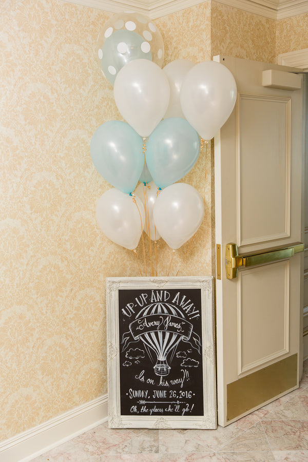 Calkboard Sign | An Up Up & Away Baby Shower | Kate Aspen