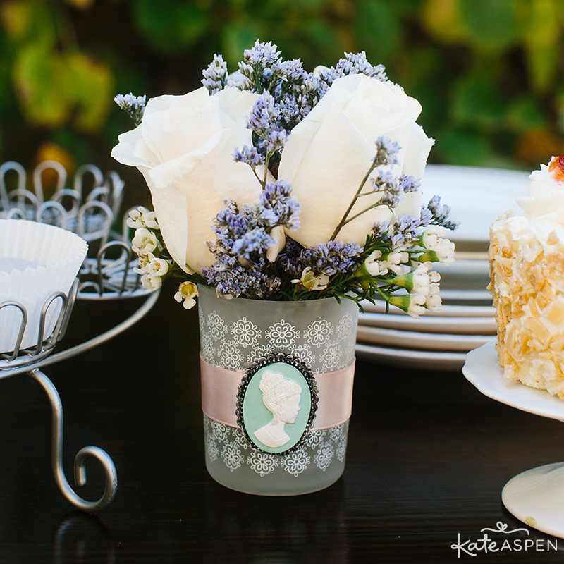 Cameo Tea Light Holder | English Garden Bridal Shower | Kate Aspen