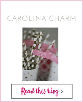 Carolina Charm - Gold Glitter Votive and Party Straw