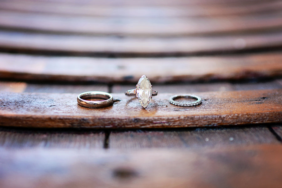 Bride and groom wedding rings | Catrina Earls Photography