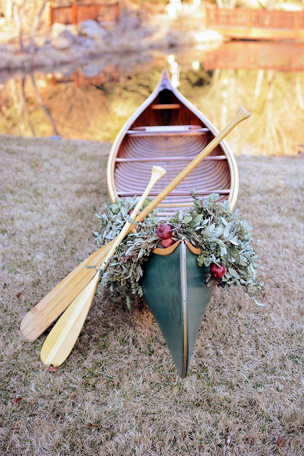 Canoe wedding exit | Catrina Earls Photography