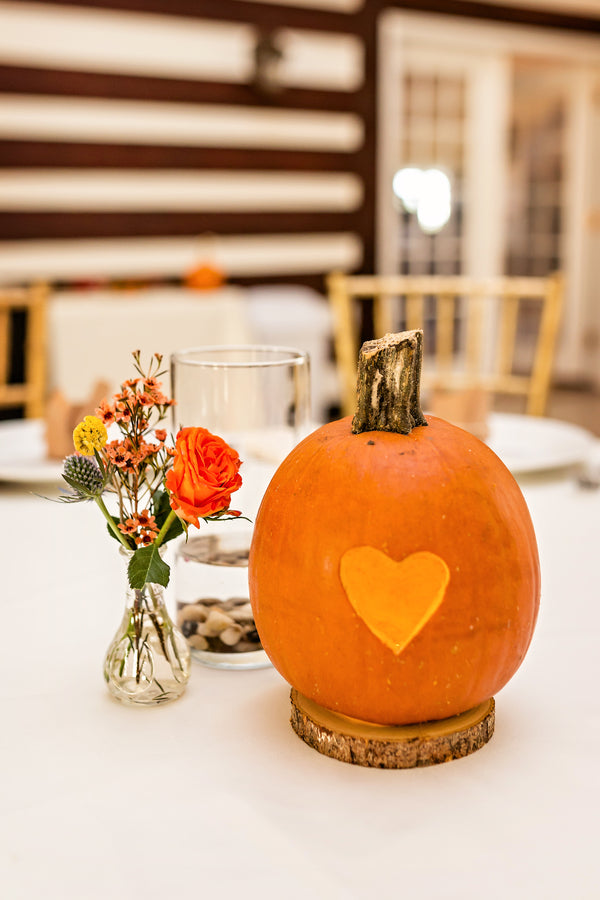 Reception Centerpiece | Falling in Love With This Halloween Wedding | Kate Aspen