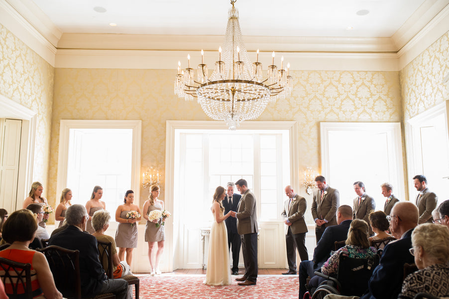 Ceremony | Peachy Pink Wedding in Historic Charleston | Priscilla Thomas Photography