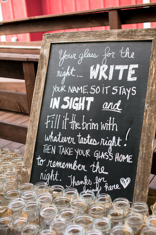Chalkboard Sign | Elegant Barn Wedding | Jeannine Marie Photography