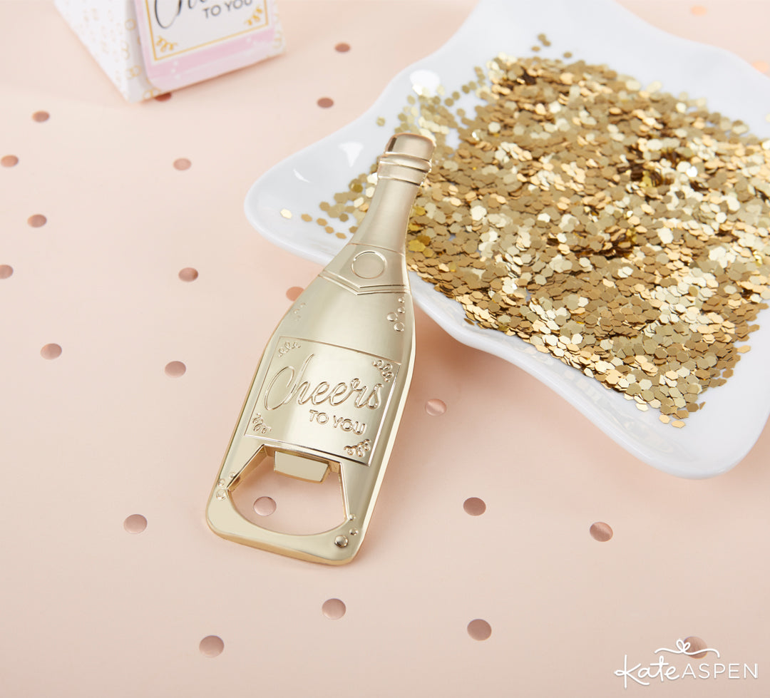 Champagne Bottle Opener | The Perfect Birthday Party For Her | Kate Aspen