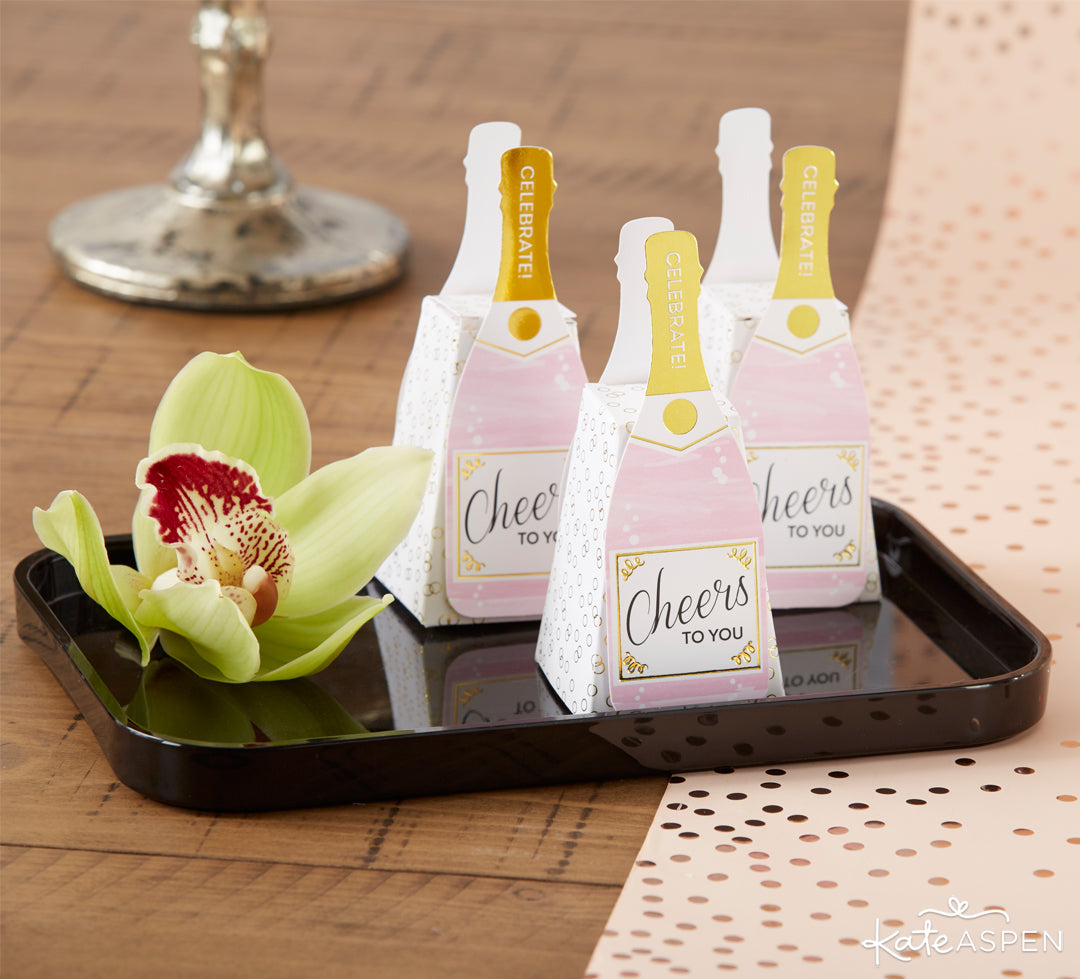 Champagne Favor Box | The Perfect Birthday Party For Her | Kate Aspen