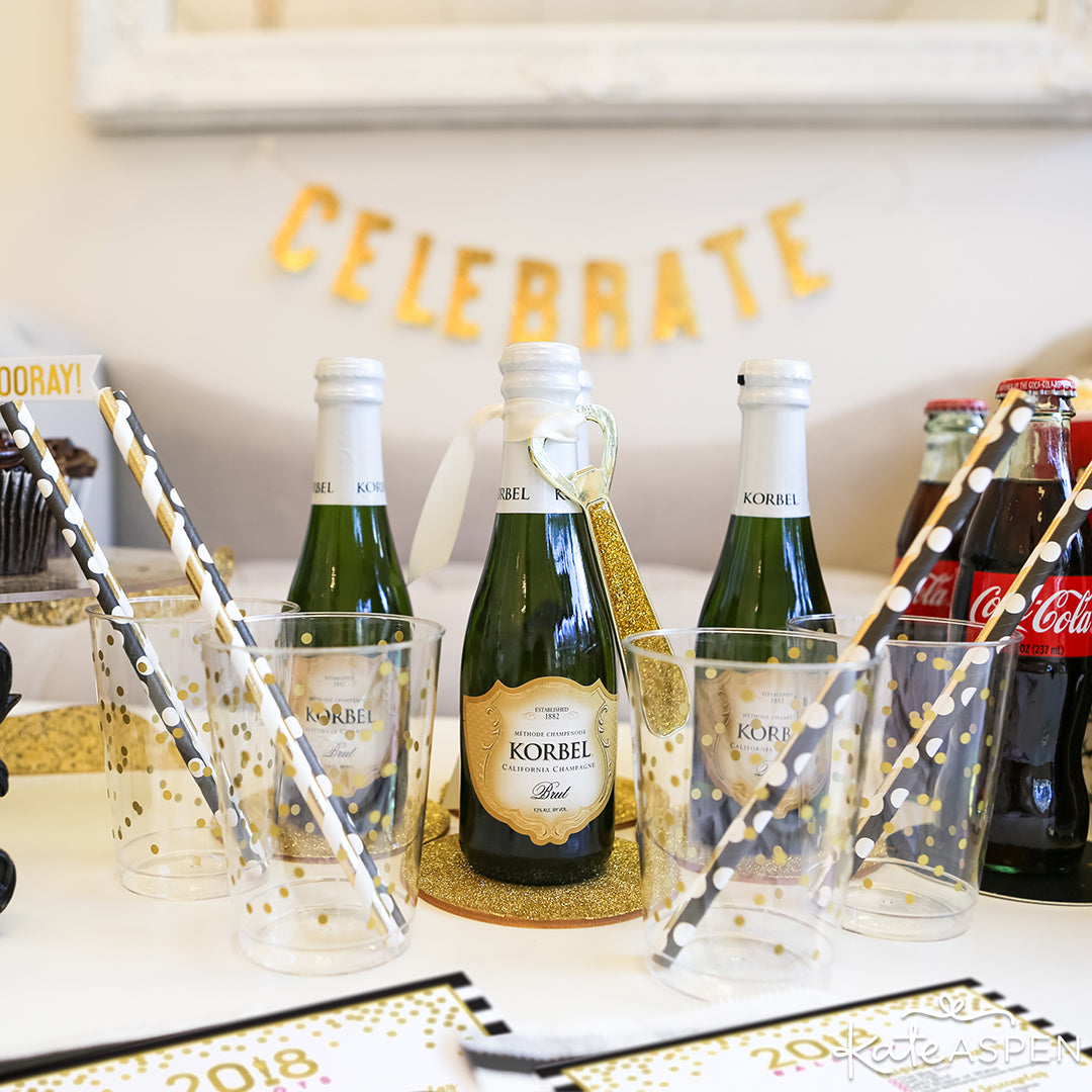 Korbel Champagne | How to Host an Award-Winning Viewing Party | Kate Aspen