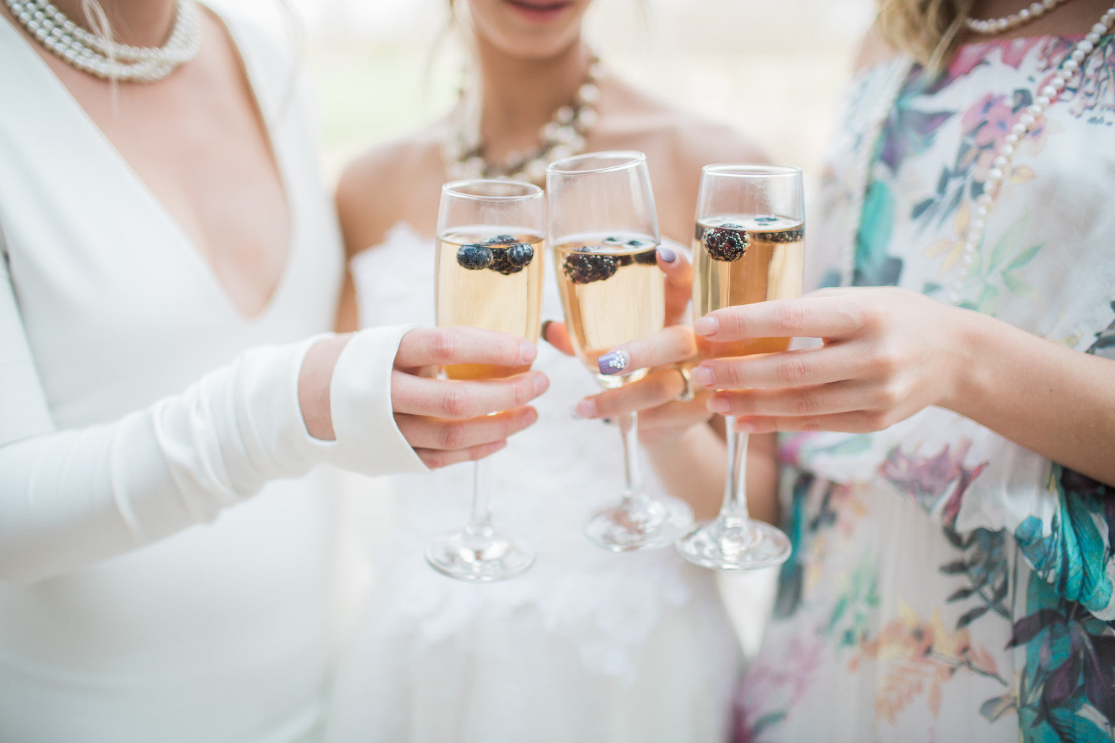 Champagne | Tips For the Perfect Floral Bridal Shower | Kate Aspen