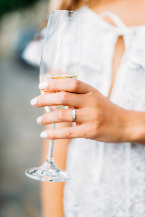 Campaign Glass and Engagement Ring | 5 Unique and Adorable Engagements | Kate Aspen